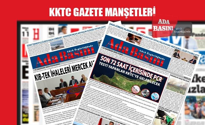 KKTC Gazetelerinin Manşetleri / 23 Haziran 2020