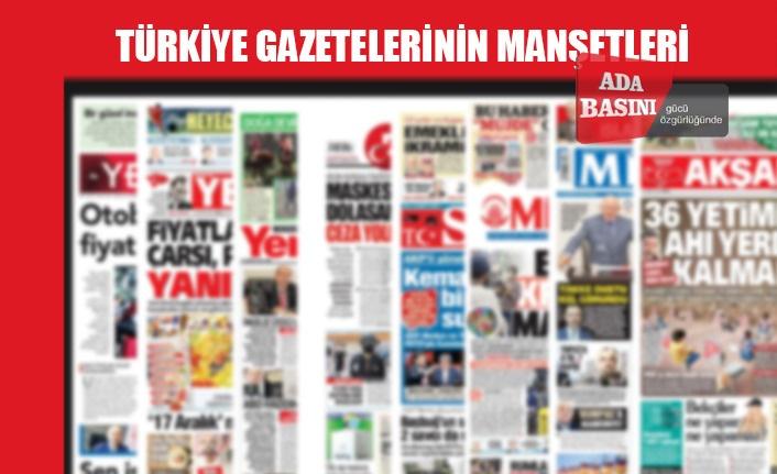 Türkiye Gazetelerinin Manşetleri / 26 Haziran 2020