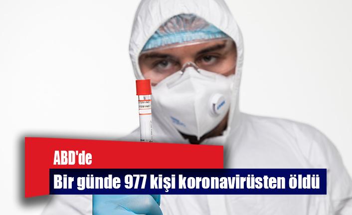 ABD'de bir günde 977 kişi koronavirüsten öldü