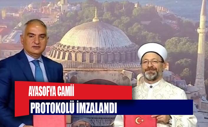 Ayasofya Camii protokolü imzalandı