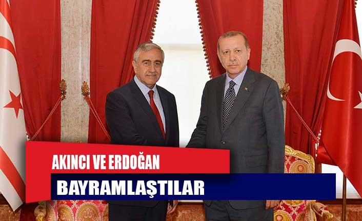 Cumhurbaşkanı Akıncı İle TC Cumhurbaşkanı Erdoğan Bayramlaştı