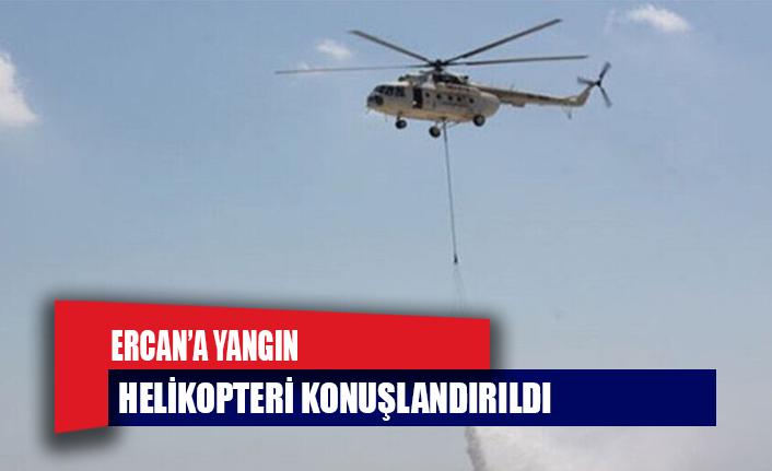 Ercan'a yangın helikopteri konuşlandırıldı