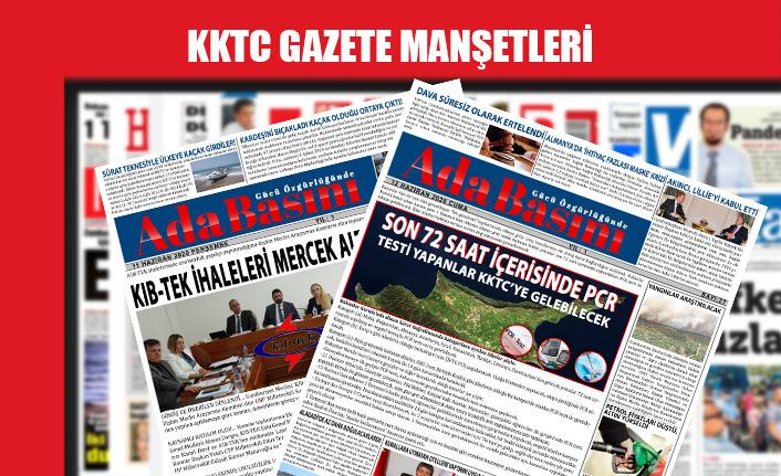 KKTC Gazetelerinin Manşetleri  / 13 Temmuz 2020