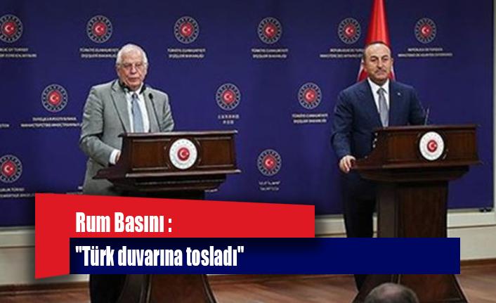 """Rum Basını : """"Türk duvarına tosladı"""""""