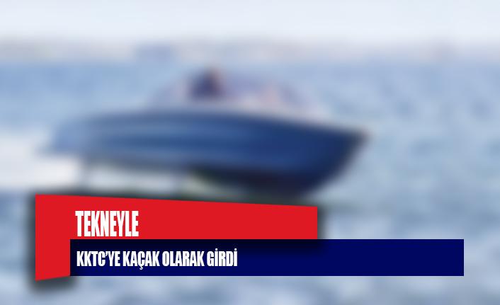 Tekneyle KKTC'ye kaçak olarak girdi