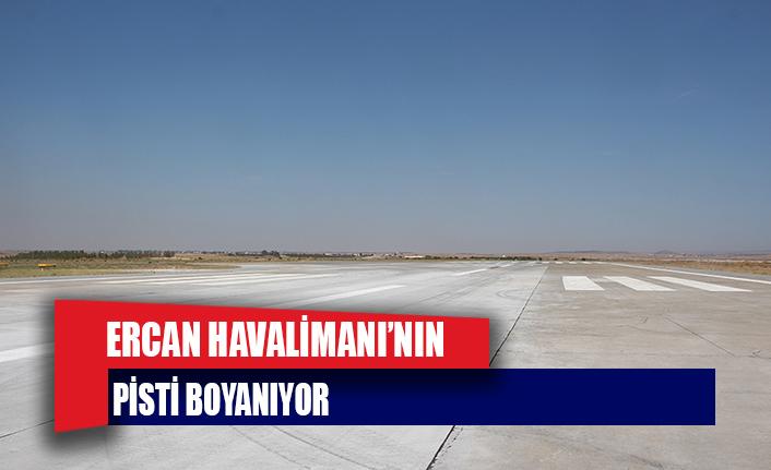 T&T Ercan Havalimanı'nın pisti boyanıyor