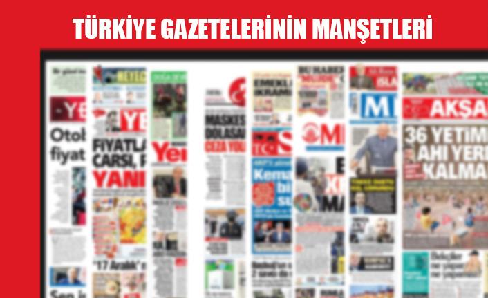 Türkiye Gazetelerinin Manşetleri / 13 Temmuz 2020