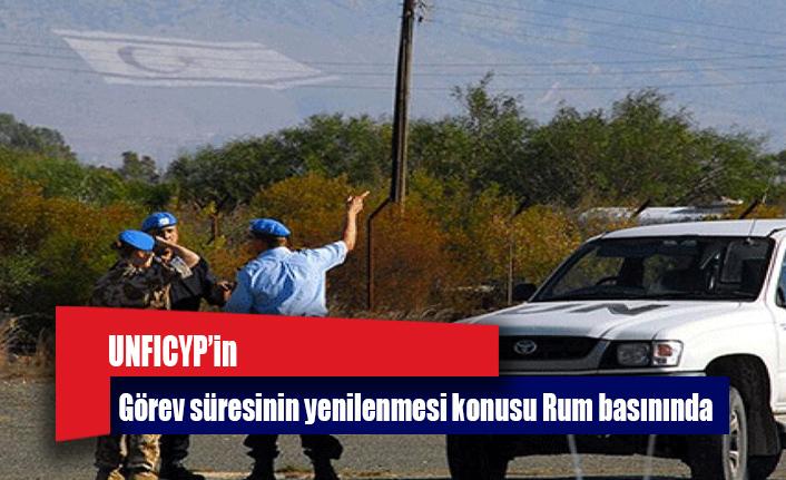 UNFICYP'in görev süresinin yenilenmesi konusu Rum basınında