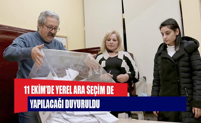 11 Ekim'de yerel ara seçim de yapılacağı duyuruldu