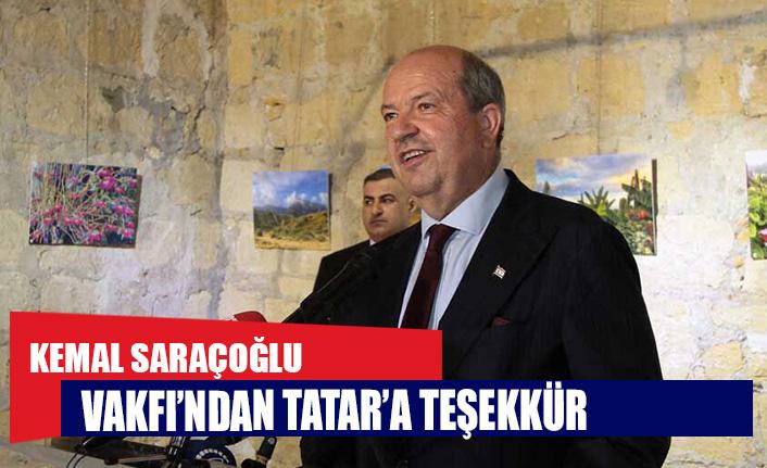 Kemal Saraçoğlu Vakfı'ndan Tatar'a teşekkür