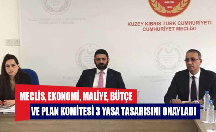 Meclis, Ekonomi, Maliye, Bütçe ve Plan Komitesi 3 yasa tasarısını onayladı