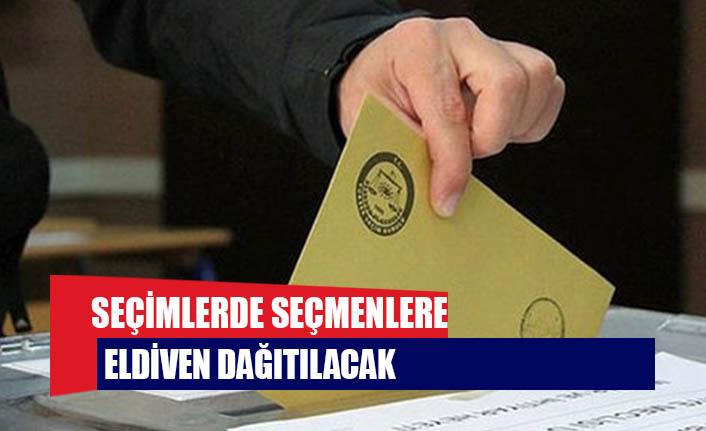Seçimlerde seçmenlere eldiven dağıtılacak