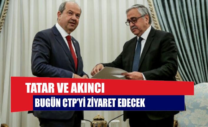 Tatar ve Akıncı bugün CTP'yi ziyaret edecek
