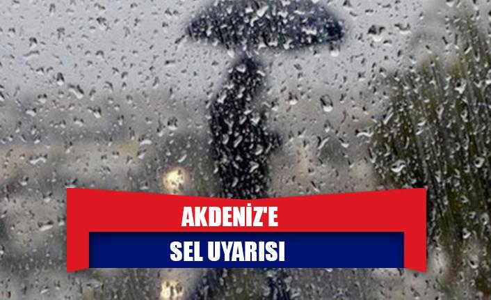 Akdeniz'e sel uyarısı