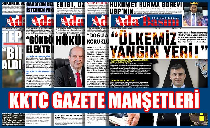 KKTC Gazete Manşetleri / 18 Aralık 2020