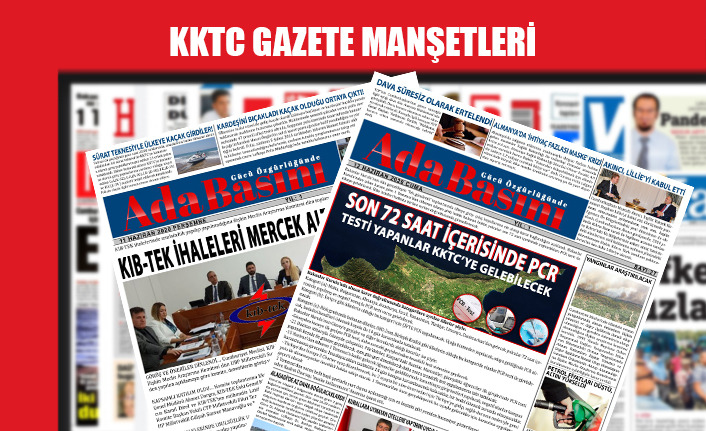 KKTC Gazete Manşetleri / 27 Şubat 2021