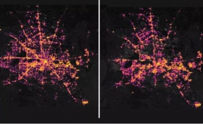Milyonlarca kişiyi etkileyen kesinti yörüngeden görüntülendi (NASA paylaştı)