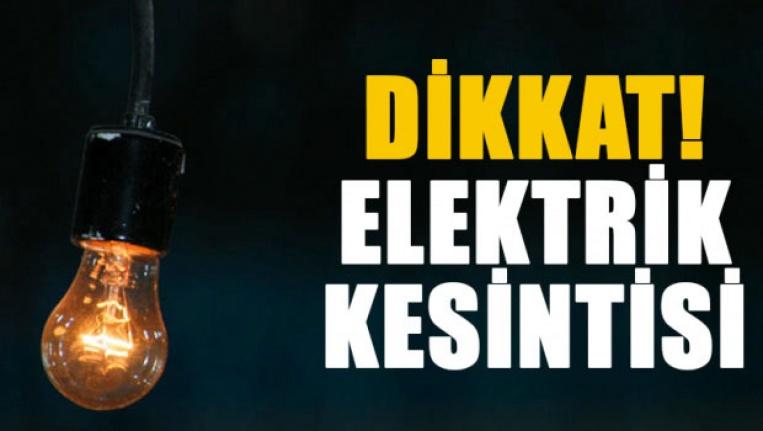 5 saatlik elektrik kesintisi!