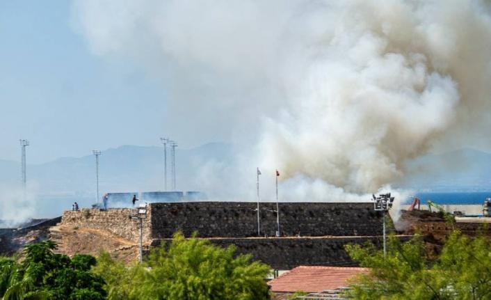 Gazimağusa Surları'ndaki yangının nedeni 'ihmal'