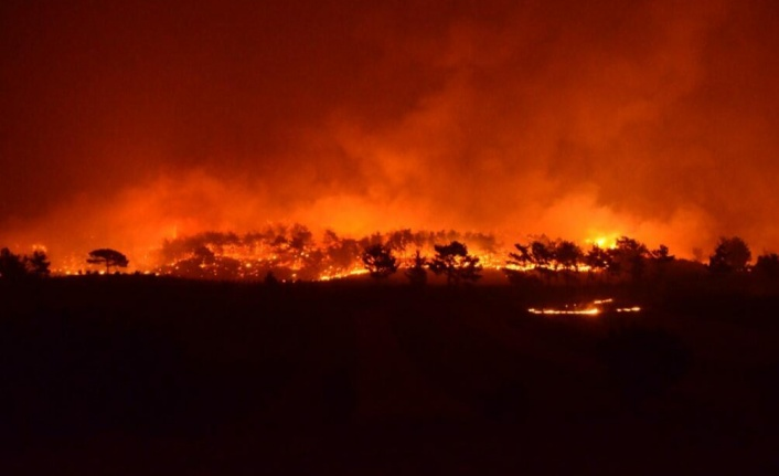 Antalya'daki yangınlara müdahale sürüyor