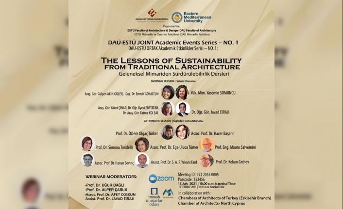 DAÜ Mimarlık Fakültesi İle Estü'den Uluslararası Ortak Seminer