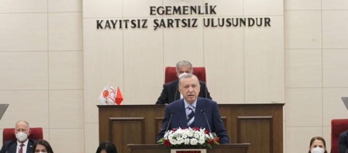 Erdoğan: Bugün Türkiye ile KKTC arasındaki ezeli kardeşliğimizi tüm dünyaya bir kez daha ilan ediyoruz