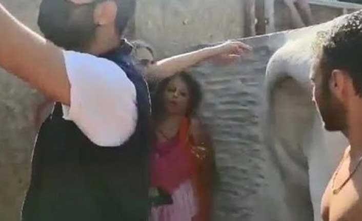 Türk bayrağını yırtıp üzerine bastığı iddia edilen İranlı kadın, gözaltına alındı