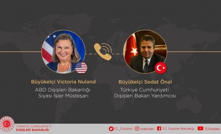 """Türkiye Cumhuriyeti Dışişleri: """"KKTC'ye desteğimiz, ABD Dışişleri Bakanlığı Müsteşarı ile yapılan görüşmede vurgulandı"""""""