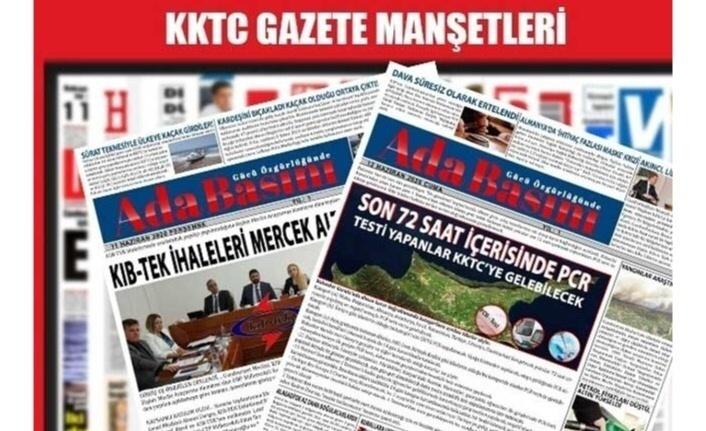 KKTC Gazete Manşetleri / 12 Eylül 2021