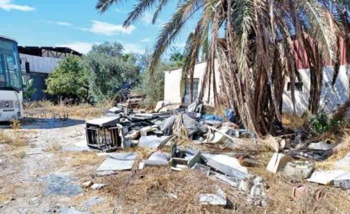 Larnaka'daki Türk mahallesi bakımsızlıktan yıkılmak üzere