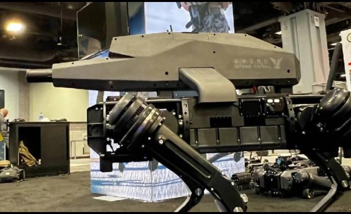 Robot köpeklere tam otomatik saldırı tüfeği monte edildi