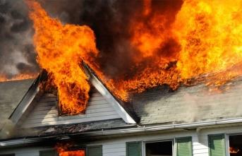 Akdoğan'da Ev Yangını