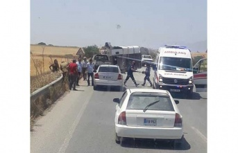 Geçitkale-Akova arasında feci kaza ! 14 Yaşınsaki Genç Hastaneye Kaldırıldı