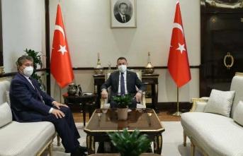""""""" Bakan Üstel, Ankara'da Fuat Oktay ile görüştü """""""