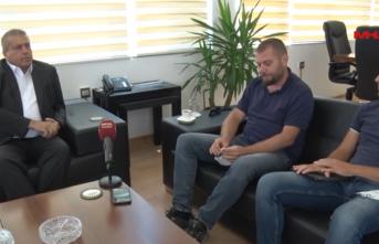 Belediye Başkanı İsmail Arter Şehir Plancıları Odası Başkanı Merter Refikoğlu İle Bir Toplantı Yaptı