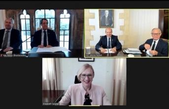 Cumhurbaşkanı Tatar, Rum Lider Anastasiadis İle Çevirim İçi Görüşme Gerçekleştirdi