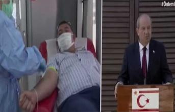 Cumhurbaşkanı Tatar'ın eşi Sibel Tatar himayelerinde kan bağış etkinliği yapıldı