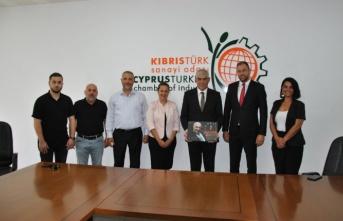 Demokrat Parti, Kıbrıs Türk Sanayi Odası'nı ziyaret etti
