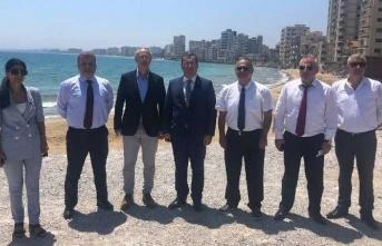 Azerbaycan Milli Meclisi Dışişleri ve Parlamentolar Arası İlişkiler Komitesi üyeleri Kapalı Maraş'ı gezdi