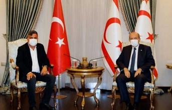 Cumhurbaşkanı Tatar, Beyarmudu Belediye Başkanı Edip'i Kabul Etti