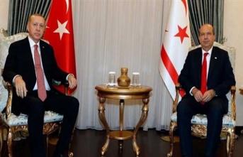 Cumhurbaşkanı Tatar, TC Cumhurbaşkanı Erdoğan İle Bir Araya Geldi