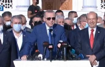 Erdoğan:Artık 'Kuzey-Güney' demek istemiyoruz, artık Kıbrıs Türkü diyoruz