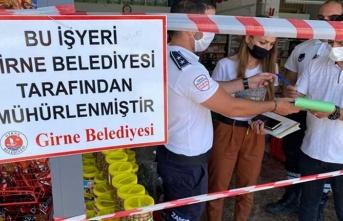 Girne'de İki İşyeri Mühürlendi
