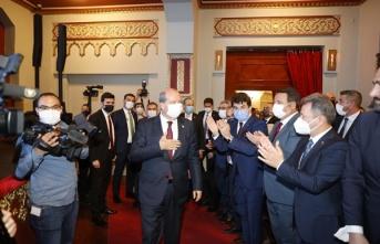 Cumhurbaşkanı Tatar, Azerbaycan Cumhurbaşkanı Yardımcısı Altun ile bir araya geldi