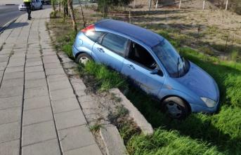Lefkoşa'da korkutan kaza! Kaldırımda yürüyen yaya yaralandı