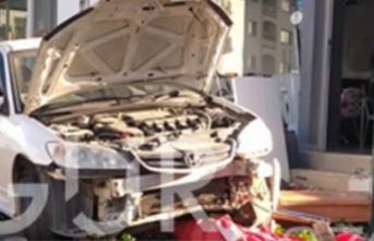 Lefkoşa'da korkutan kaza. Ortalık savaş alanına döndü