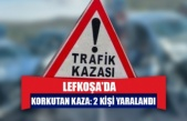 Lefkoşa'da korkutan kaza: 2 kişi yaralandı