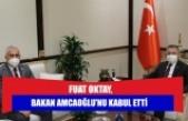 Fuat Oktay, Bakan Amcaoğlu'nu kabul etti