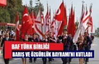 Baf Türk Birliği, Barış ve Özgürlük Bayramını kutladı