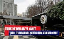 Türkiye'den AB'ye yanıtTürkiye'den AB'ye yanıt